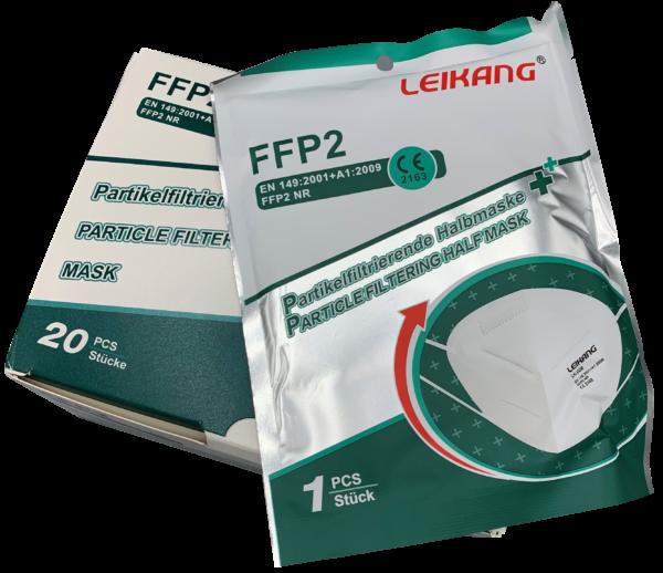 FFP2 Maske im 20er Pack, einzeln verpackt